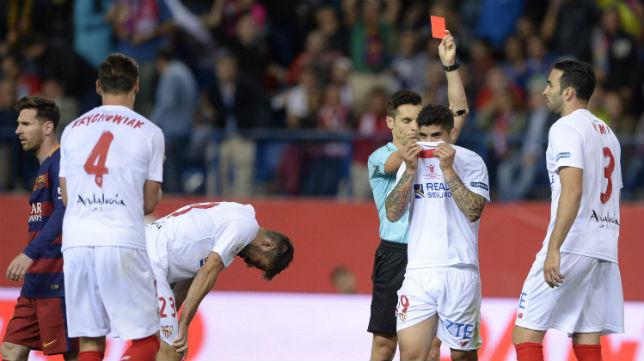 Del Cerro Grande expulsó a Banega durante la final de la Copa del Rey 2016