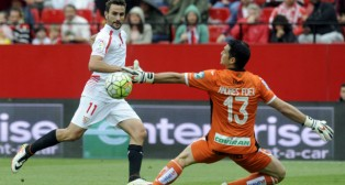 Juan Muñoz, en el Sevilla FC-Granada