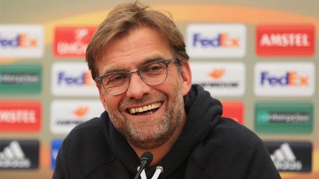 Jurgen Klopp, entrenador del Liverpool, en una rueda de prensa