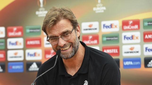 Klopp, durante una rueda de prensa del Liverpool (Foto: EFE)