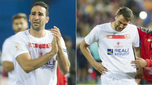 Rami e Iborra lloran tras perder la final de la Copa del Rey ante el Barça
