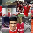 Diferentes imágenes de la historia del Liverpool