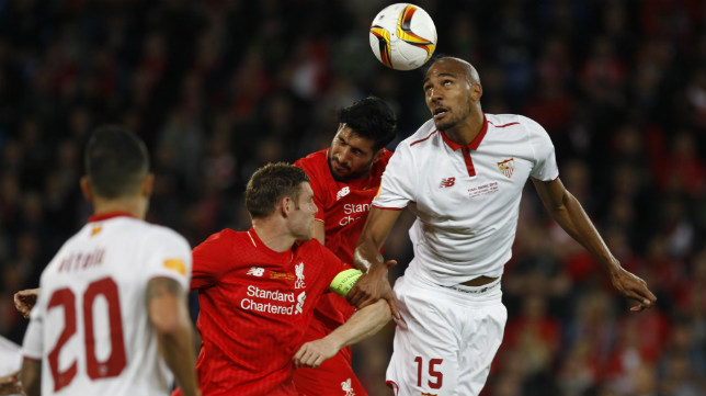 Nzonzi, en la final de la Europa League en Basilea
