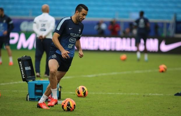 Rami, en un entrenamiento con la selección francesa