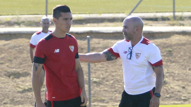 Kranvitter y Sampaoli (foto: Raúl Doblado)