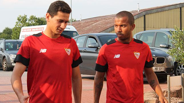 Ganso, junto a Mariano, en un entrenamiento en Bad Schönborn. Foto: J. Parejo