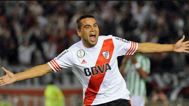 Gabriel Mercado, en un partido con River Plate