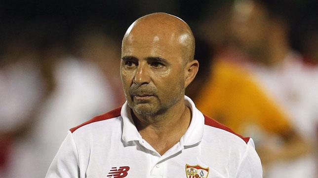 El entrenador del Sevilla, Jorge Sampaoli
