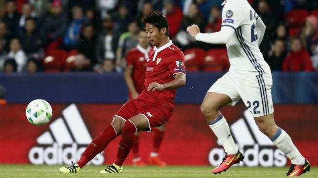Kiyotake, en la Supercopa de Europa (foto: AFP)