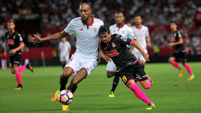 Nzonzi, en el Sevilla-Español (foto: Reuters)