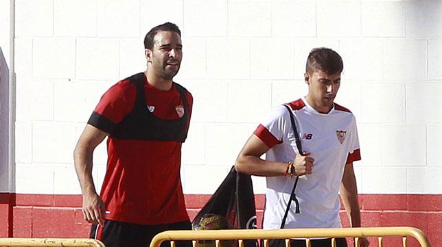 Rami, en la ciudad deportiva del Sevilla (foto: Raúl Doblado)