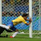 Rodrigo Caio, en un partido con la selección olímpica de Brasil