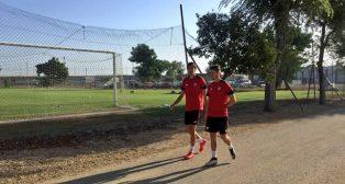 Escudero se entrena ya con sus compañeros (foto: SFC)