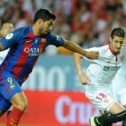 Luis Suárez y Escudero, durante el Sevilla-Barça de la Supercopa de España