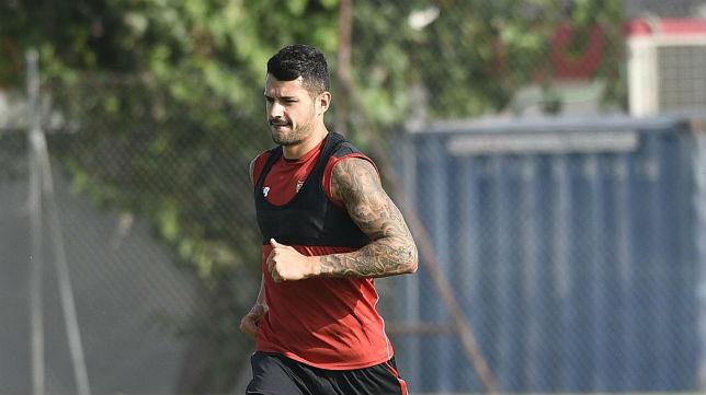 Vitolo, en un entrenamiento (Foto: SFC)
