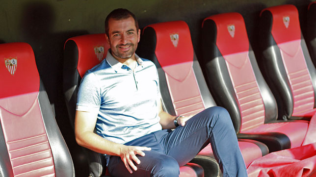 Diego Martínez, entrenador del Sevilla Atlético (foto: Rocío Ruz)