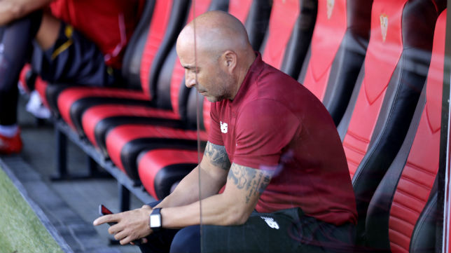 El técnico del Sevilla FC, Jorge Sampaoli (foto: J. M. Serrano)