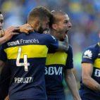 Bendetto celebra uno de sus goles en el Boca-Quilmes (4-1)
