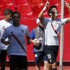 Borja Lasso celebra su gol al Alcorcón en el Sánchez-Pizjuán (FOTO: @LaLiga)