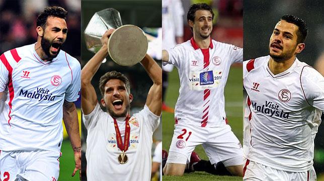 Iborra, Carriço, Pareja y Vitolo serán los capitanes del Sevilla para la temporada 2016-17