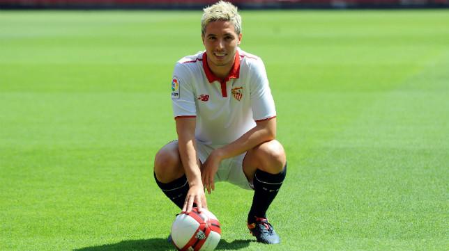 Nasri, durante su presentación como jugador del Sevilla FC