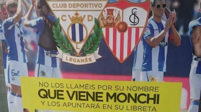 Captura del cartel oficial del Leganés-Sevilla previsto para el próximo 15 de octubre en Butarque (Foto: @jorgecortes74)