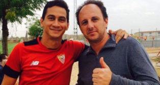 Ganso, junto a Rogerio Ceni en la ciudad deportiva del Sevilla FC