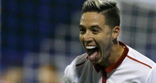 Nasri celebra su gol en Zagreb