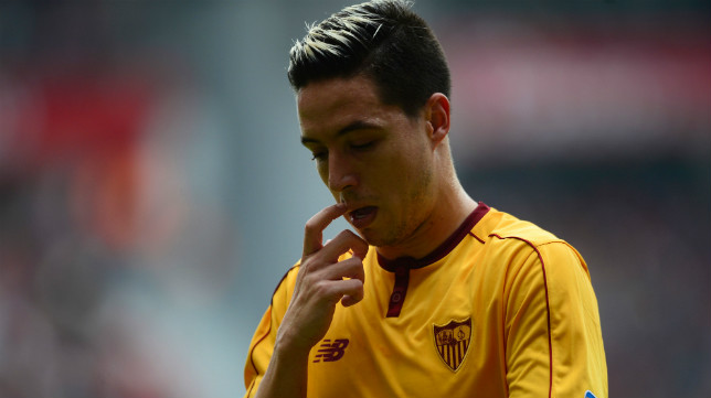 Nasri, en el Sporting-Sevilla FC