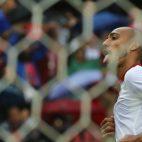 Steven Nzonzi celebra su gol al Atlético en el Sánchez-Pizjuán