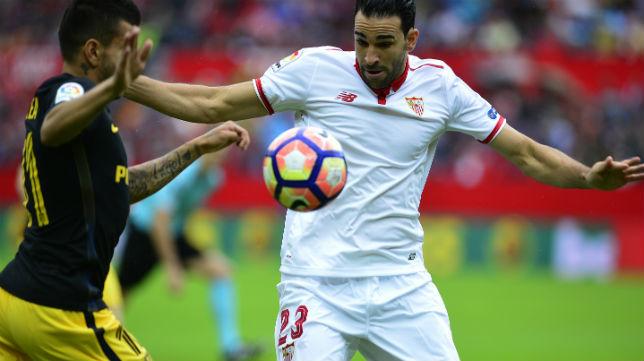 Rami controla un balón en el Sevilla-Atlético