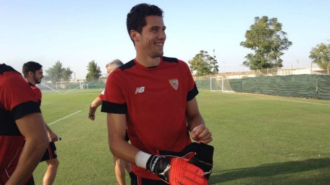 David Soria, en un entrenamiento. Foto: SFC