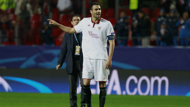 Iborra, tras el Sevilla FC- Juventus. Foto: Raúl Doblado