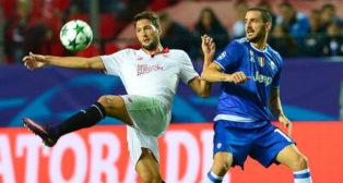 Franco Vázquez, en el Sevilla-Juventus
