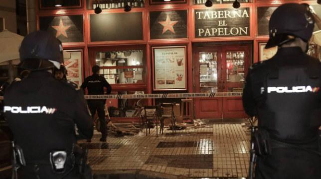 La Policía Nacional custodia el lugar donde se produjo la pelea de ultras de Sevilla FC y Juventus