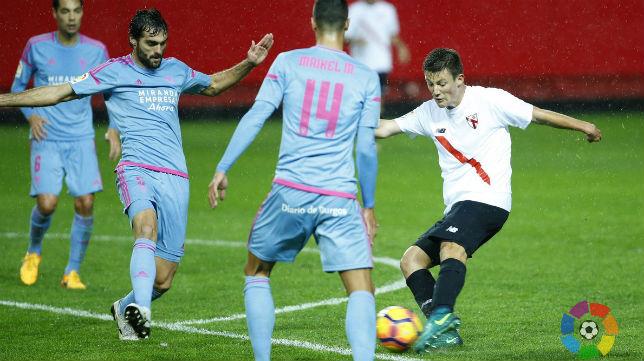 Sevilla Atlético- Mirandés. Foto: LaLIga 123
