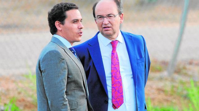 Del Nido Carrasco y José Castro, en la ciudad deportiva
