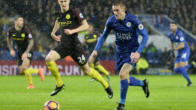 Vardy, delantero del Leicester
