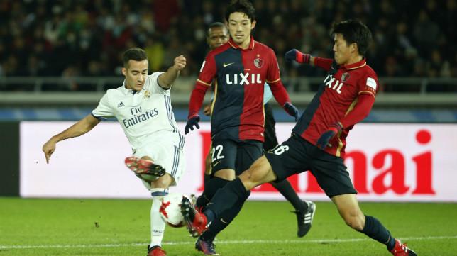 Lucas Vázquez, en un partido del Real Madrid en el Mundial de Clubes
