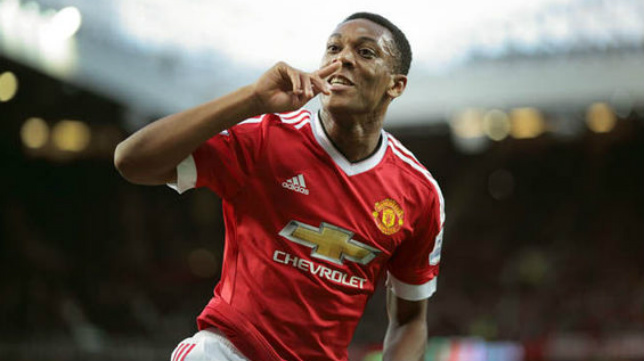 Anthony Martial, del Manchester United