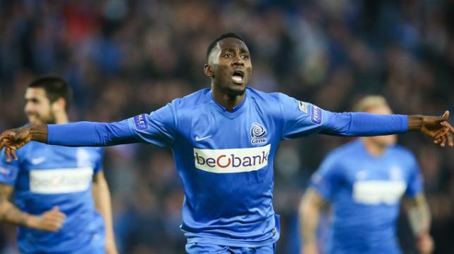 Ndidi celebra un gol con el Genk