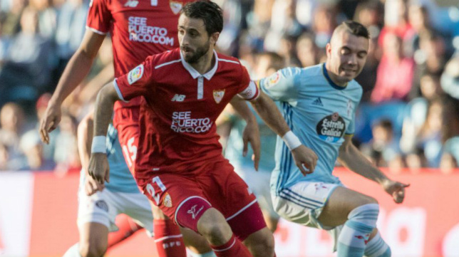 Nico Pareja, durante el Celta-Sevilla FC