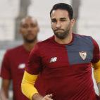Rami, durante un entrenamiento con el Sevilla FC (Foto: AFP)