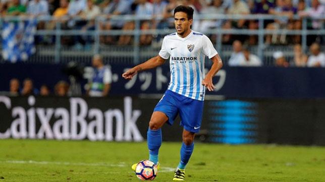 Recio, jugador del Málaga (Foto: Málaga CF).