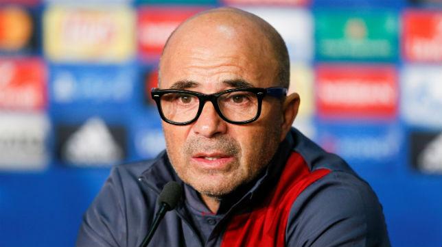 Sampaoli, en la sala de prensa del Stade de Lyon (Foto: REUTERS)