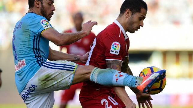 Vitolo, en un lance del Celta-Sevilla