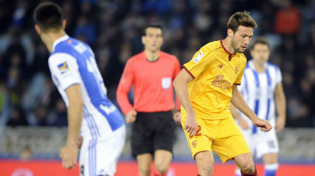 Franco Vázquez participó en los dos primeros goles del Sevilla en Anoeta