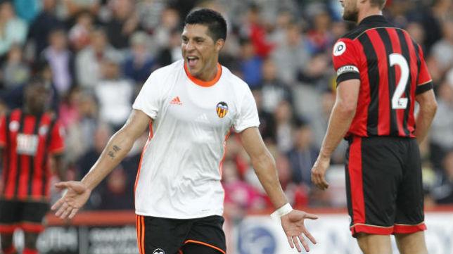 Enzo Pérez celebra un gol con el Valencia (Foto: Superdeporte)