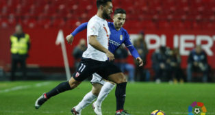 Ivi durante una acción en el Sevilla Atlético- Real Oviedo. Foto: LaLiga