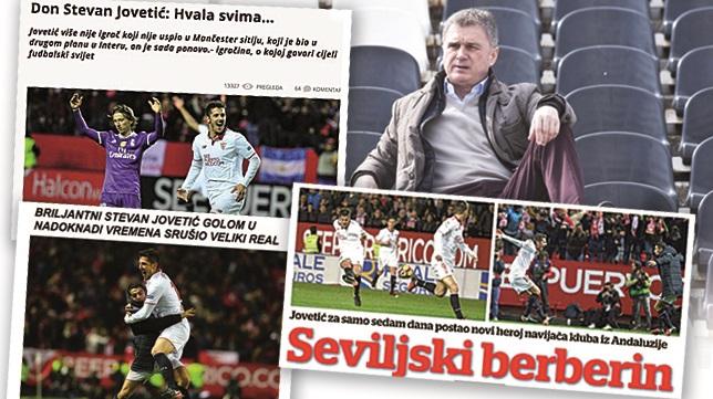 Los periódicos de Montenegro y el seleccionador, Tumbakovic, elogiaron la actuación del delantero
